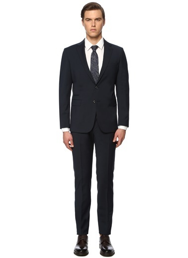 George Hogg Erkek 7004157 Slim Fit Takım Elbise Lacivert